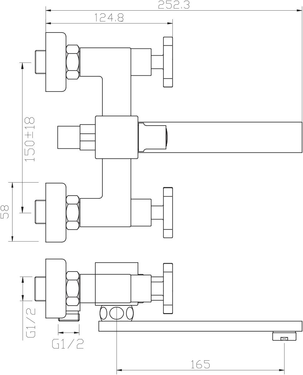 """Смеситель для ванны Argo """"Quattro"""" предназначен для смешивания холодной и горячей воды, устанавливается на стену. Выполнен из высококачественного металла с покрытием из никеля и хрома.  Запорный механизм: кран букса 1/2"""" 90° """"Керамика"""" 8х24    Тип дайвотера: керамбукса      Аэратор: М24х1 наружная резьба NEOPERL CASCADE SLC """"Антикалькар"""" 22,8 - 25,2 л/мин при 0,3 Мпа       Крепеж: эксцентрик усиленный 3/4"""" х 1/2"""" с редуктором шума + прокладка-фильтр     Комплектация: душевой шланг растяжной 150 - 180 см, оплётка - хромированная нержавеющая сталь, учащённый двойной замок, 1/2"""" с конусом свободного вращения     душевая лейка """"GRANO""""   кронштейн наклонный  ключ для демонтажа аэратора    предохранительные накладки для монтажа крепёжных гаек"""
