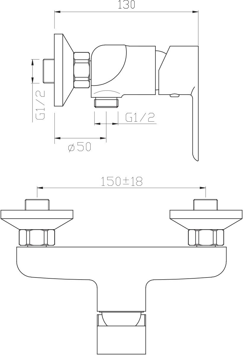 """Смеситель для душа Argo """"Olimp"""" предназначен для смешивания холодной и горячей воды, устанавливается на стену. Выполнен из высококачественного металла с покрытием из никеля и хрома.  Запорный механизм: картридж d-35 мм """"Short-size"""" SEDAL (Испания)   Крепеж: эксцентрик усиленный 3/4"""" х 1/2"""" с редуктором шума + прокладка-фильтр      Комплектация: душевой шланг растяжной 150 - 180 см, оплётка - хромированная нержавеющая сталь, учащённый двойной замок, 1/2"""" с конусом свободного вращения     душевая лейка """"PREMIUM"""" четырёхпозиционная: душ, массаж, аэро, душ/аэро  кронштейн наклонный   предохранительные накладки для монтажа крепёжных гаек"""