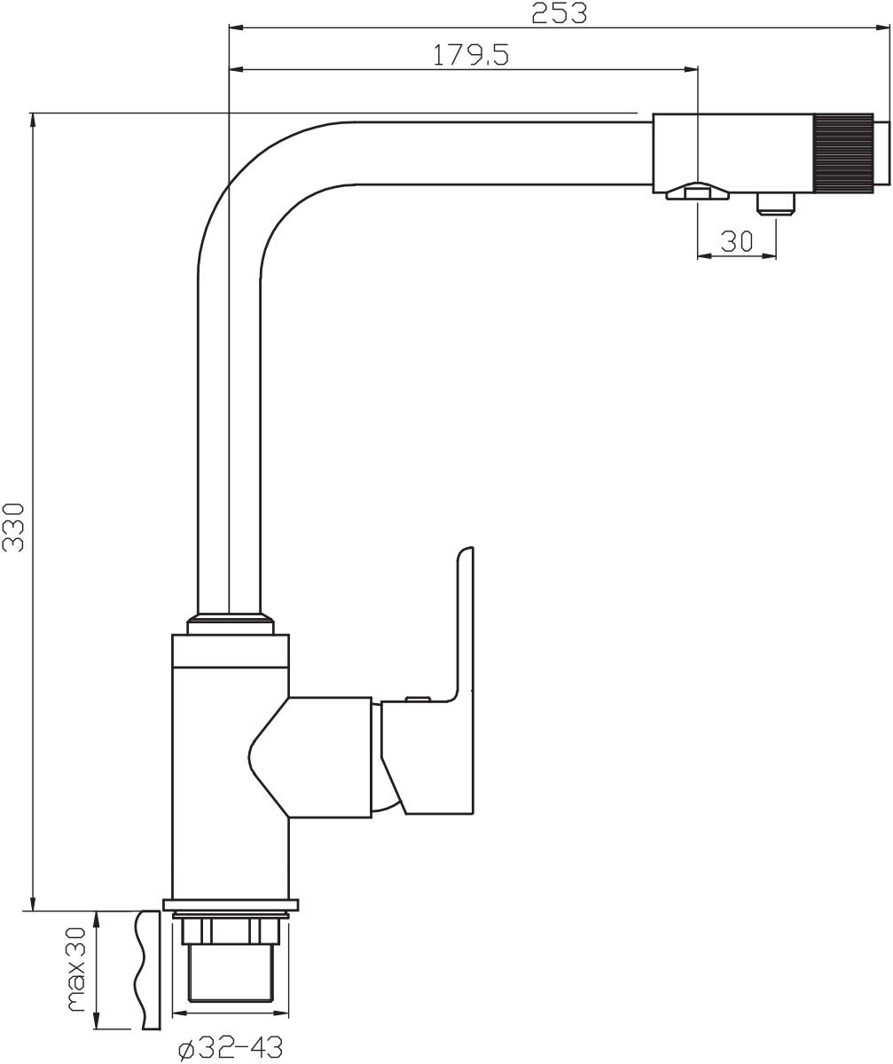 """Смеситель для кухни Argo """"Olimp"""" предназначен для смешивания холодной и горячей воды, устанавливается на мойку. Выполнен из высококачественной латуни с покрытием из хрома. Корпус изготовлен путем токарно-фрезерной обработки цельнолитой заготовки. Применение данной технологии исключает вероятность существования микропор и межкамерных утечек. Запорный механизм: картридж d-35 мм """"Short-size"""" SEDAL. Аэратор: М20х1 наружная резьба Neoperl Cascade SLC """"Антикалькар"""" 7,5-9 л/мин при 0,3 Мпа. Крепеж: втулка + гайка """"Manual-nut"""""""