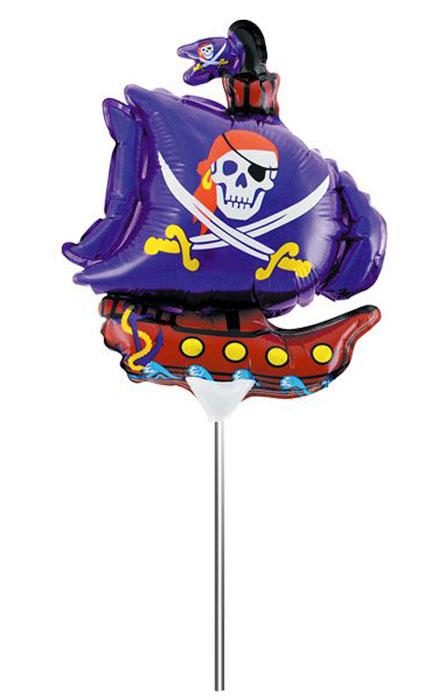 Action! Шар фольгированный на палочке Пиратский корабль -  Воздушные шарики