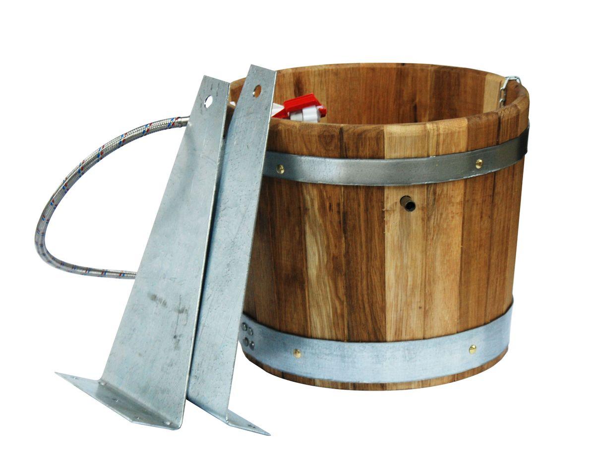 Обливное устройство Proffi Home, 20 лPS0088Обливное устройство Proffi Home выполнено из высококачественного дуба.Эксплуатация бондарных изделий.Перед первым использованием бондарное изделие рекомендуется подготовить. Для этого нужно наполнить изделие холодной водой и оставить наполненным на 2-3 часа. Затем необходимо воду слить, обдать изделие сначала горячей, потом холодной водой. Не рекомендуется оставлять бондарные изделия около нагревательных приборов, а также под длительным воздействием прямых солнечных лучей.С момента начала использования бондарного изделия не рекомендуется оставлять его без воды на срок более 1 недели. Но и продолжительное время хранить в таких изделиях воду тоже не следует.После каждого использования необходимо вымыть и ошпарить изделие кипятком. В качестве моющих средств желательно использовать пищевую соду либо раствор горчичного порошка.Правильное обращение с бондарными изделиями позволит надолго сохранить их эксплуатационные свойства и продлить срок использования!