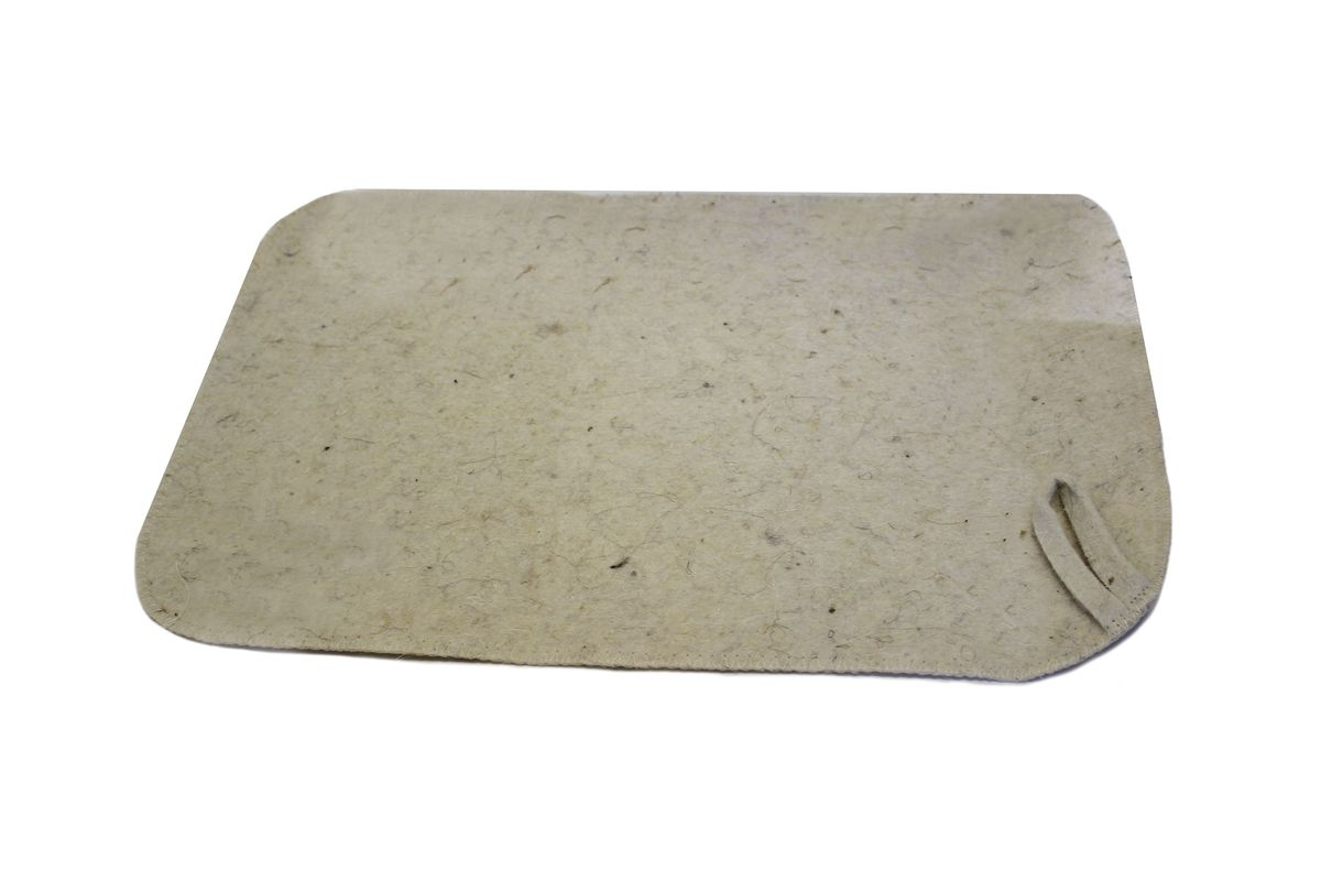Коврик для бани и сауны Proffi Sauna, цвет: молочный, 47 х 31 см автомобильный аксессуар proffi ph8723