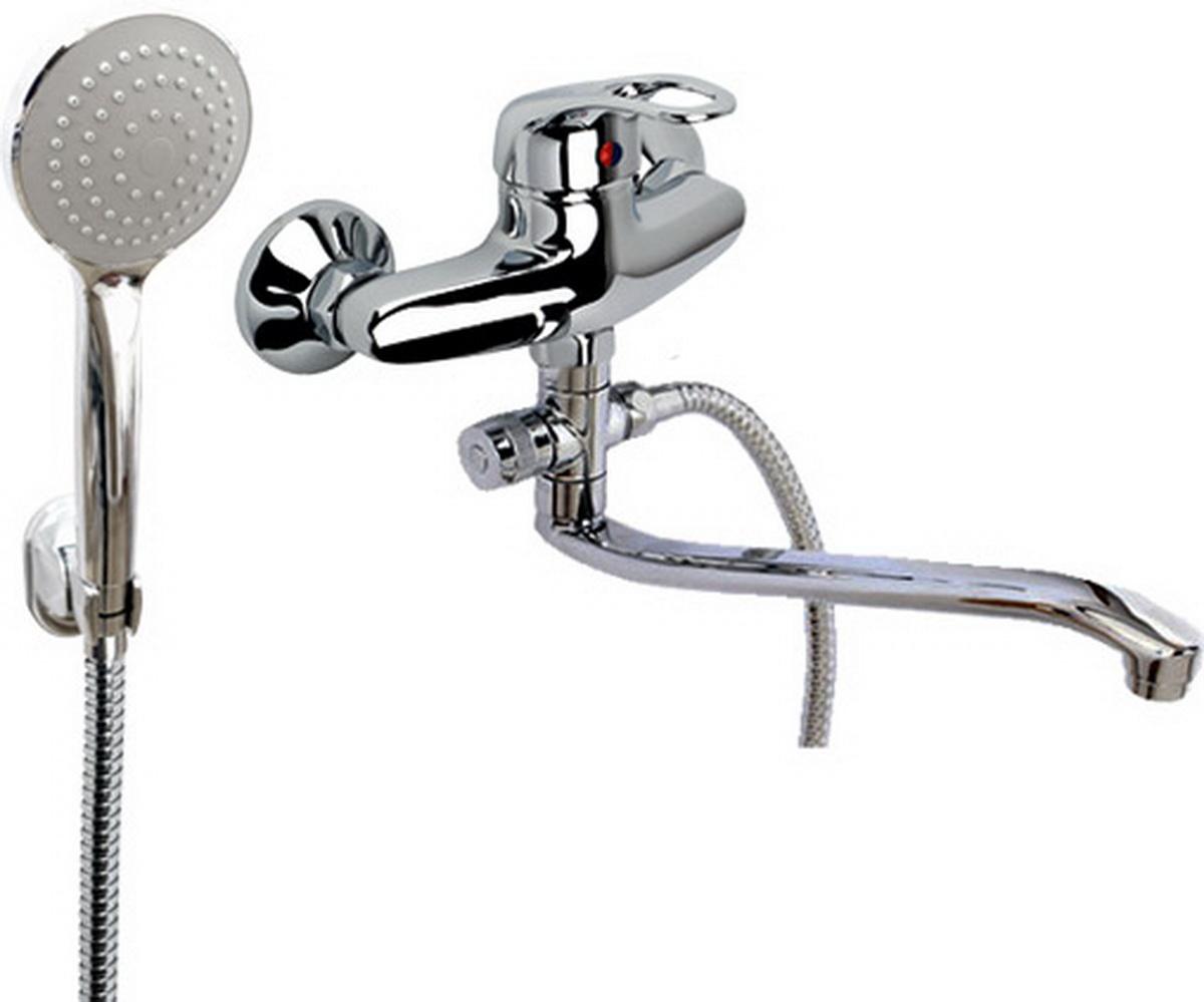 Смеситель для ванны и умывальника Argo Jamaica, длина 29,5 см9721Смеситель для ванны и умывальника Argo Jamaica предназначен для смешивания холодной и горячей воды, устанавливается на стену. Выполнен из высококачественного металла с покрытием из никеля и хрома.Запорный механизм: картридж d-40 мм Short-sizeТип дайвотера: картриджный Аэратор: ячейковый М24х1 OnlyPlast 10-13 л/мин при 0,3 МПаКрепеж: эксцентрик 3/4 x 1/2, прокладка-фильтрКомплектация:Душевой шланг 150 см, хромированная нержавеющая сталь, двойной замок, 1/2 Душевая лейка MonoКронштейн