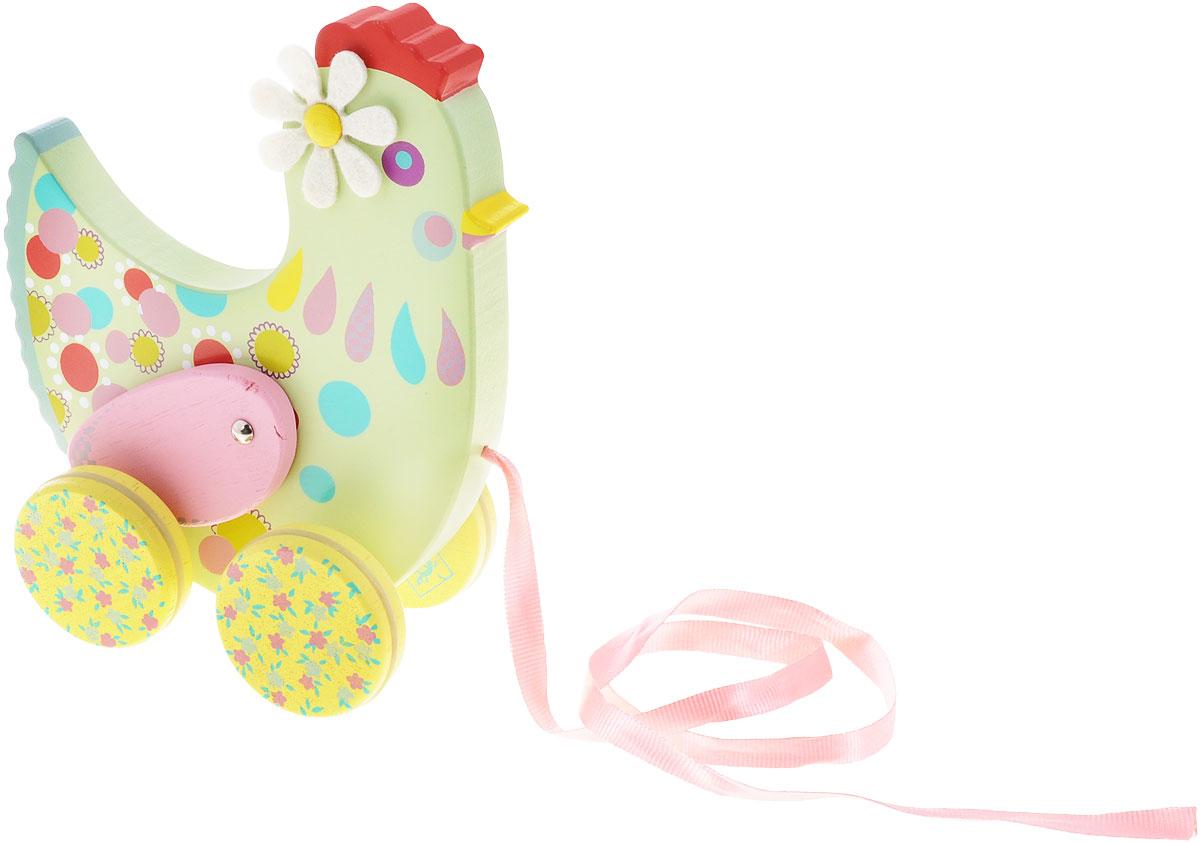 Djeco Игрушка-каталка Курочка Коткотт игрушка каталка жираф деревянная