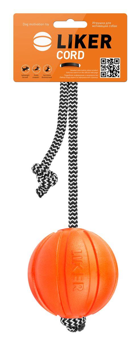 Мячик Liker Корд на шнуре, диаметр 7 см6296Мячик Liker Корд на шнуре -игрушка для мотивации собак. Новая игрушка, созданная из уникального материала для поощрения и повышения игровой мотивации. Увеличивает интенсивность тренировки, обеспечивает безопасность рук хозяина, специальный прорезиненный шнур не режет ладонь, удобен для игр в перетягивание, легко забрасывается на большое расстояние.Не токсичен, мягко прокусывается и не травмирует зубы/десна собаки.