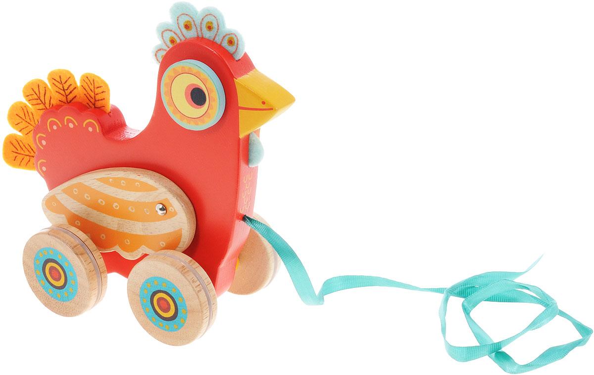 Djeco Игрушка-каталка Курочка Полка игрушка каталка жираф деревянная