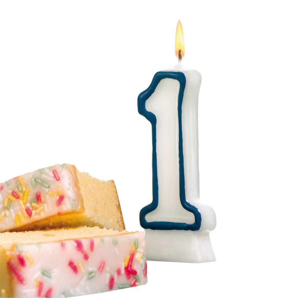 Susy Card Свеча-цифра для торта 1 год цвет синий mango susy