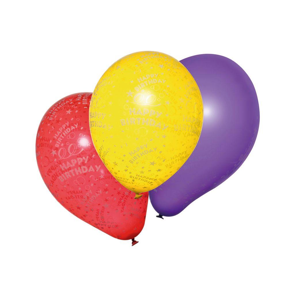 Susy Card Набор воздушных шариков Happy Birthday 10 шт гирлянда алфавит винни happy birthday