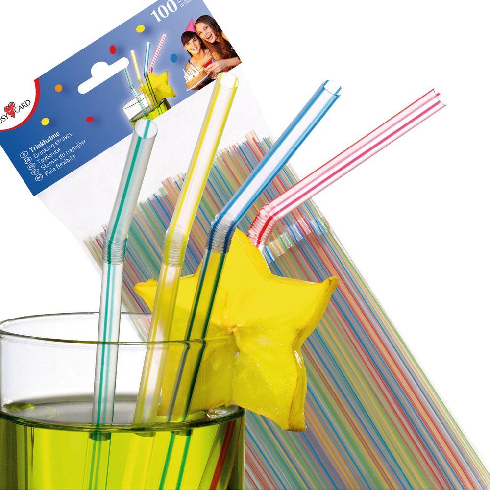 Susy Card Сервировка праздничного стола детям Трубочки для коктейля 100 шт