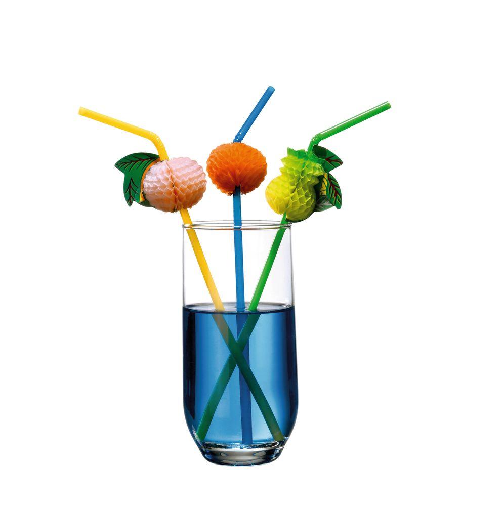 Susy Card Трубочка для коктейля Фрукты 10 шт -  Сервировка праздничного стола