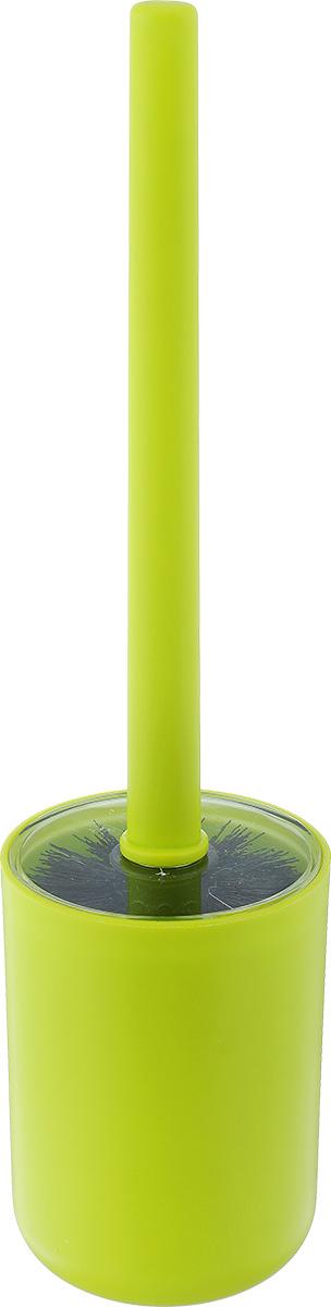 Ершик для унитаза Vanstore Plastic Green, с подставкой, цвет: салатовый310-06Ершик для унитаза Vanstore Plastic Green выполнен из пластика и оснащен жестким ворсом. Подставка с устойчивым основанием не позволяет ершику опрокинуться. Ершик отлично чистит поверхность, а грязь с него легко смывается водой.Стильный дизайн изделия притягивает взгляд и прекрасно подойдет к интерьеру туалетной комнаты.Высота ершика: 32,5 см.Размер подставки для ершика: 9 х 9 х 12,5 см.Размер рабочей части ершика: 8 х 8 х 8 см.