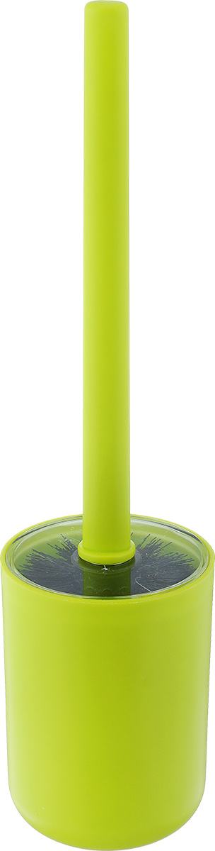 Ершик для унитаза Vanstore Plastic Green, с подставкой, цвет: салатовый мыльница vanstore plastic white цвет белый 12 х 9 х 2 5 см