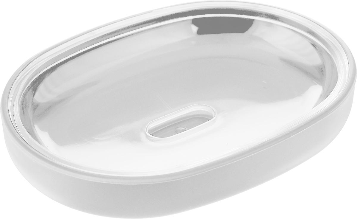 Мыльница Vanstore Plastic White, цвет: белый, 12 х 9 х 2,5 см стакан для ванной umbra droplet цвет дымчатый 9 3 х 9 6 х 9 6 см