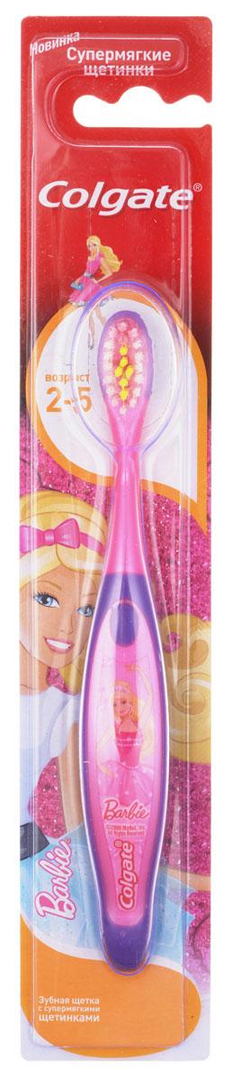 Colgate Зубная щетка для девочки Barbie детская от 2 до 5 лет супермягкие, цвет розовый, фиолетовый, барби балеринаFCN21742_розовый , фиолетовый, балерина
