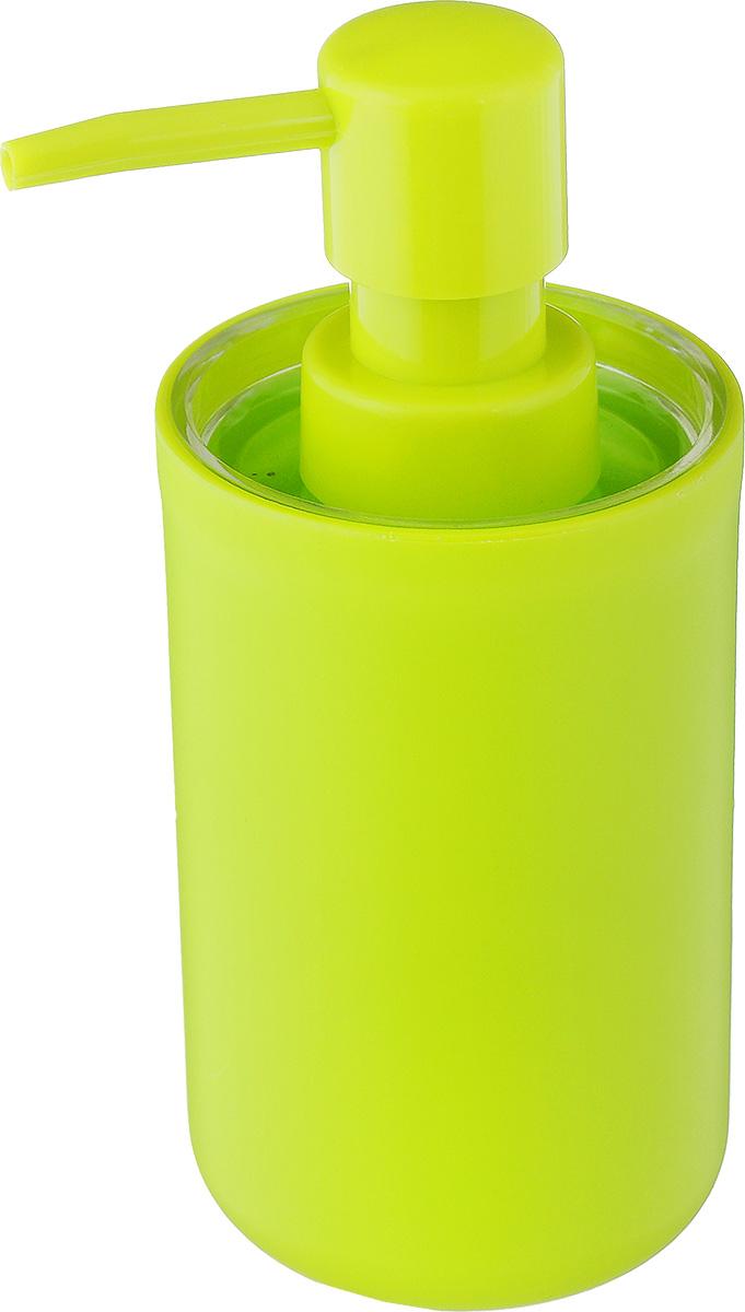 """Дозатор для жидкого мыла Vanstore """"Plastic Green"""", изготовленный из пластика, отлично подойдет для вашей ванной комнаты. Такой аксессуар очень удобен в использовании, достаточно лишь перелить жидкое мыло в дозатор, а когда необходимо использование мыла, легким нажатием выдавить нужное количество. Дозатор для жидкого мыла Vanstore """"Plastic Green"""" создаст особую атмосферу уюта и максимального комфорта в ванной.Размер дозатора: 6,5 х 6,5 х 13,5 см.Объем дозатора: 300 мл."""