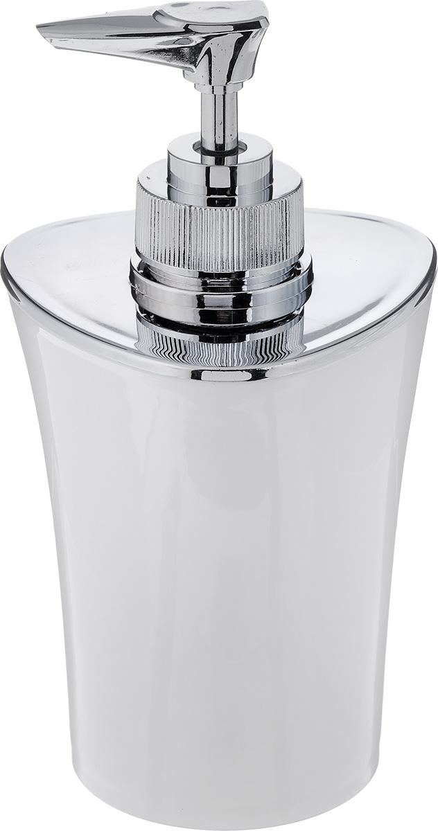 """Дозатор для жидкого мыла Vanstore """"Wiki White"""", изготовленный из пластика, отлично подойдет для вашей ванной комнаты. Такой аксессуар очень удобен в использовании, достаточно лишь перелить жидкое мыло в дозатор, а когда необходимо использование мыла, легким нажатием выдавить нужное количество. Дозатор для жидкого мыла Vanstore """"Wiki White"""" создаст особую атмосферу уюта и максимального комфорта в ванной.Размер дозатора: 8 х 8 х 16 см.Объем дозатора: 300 мл."""