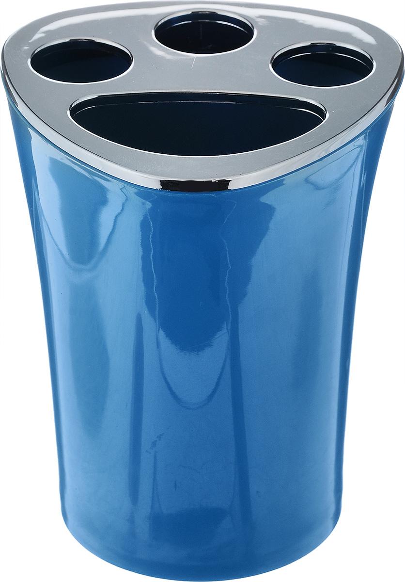 Стакан для зубных щеток Vanstore Wiki Blue, цвет: синий, высота 10 см356-02Оригинальный стакан для зубных щеток Vanstore Wiki Blue изготовлен из пластика и отлично подойдет для вашей ванной комнаты. Стильный дизайн изделия притягивает взгляд и прекрасно подойдет к интерьеру в ванной комнаты.Размер стакана: 8 х 8 х 10 см.