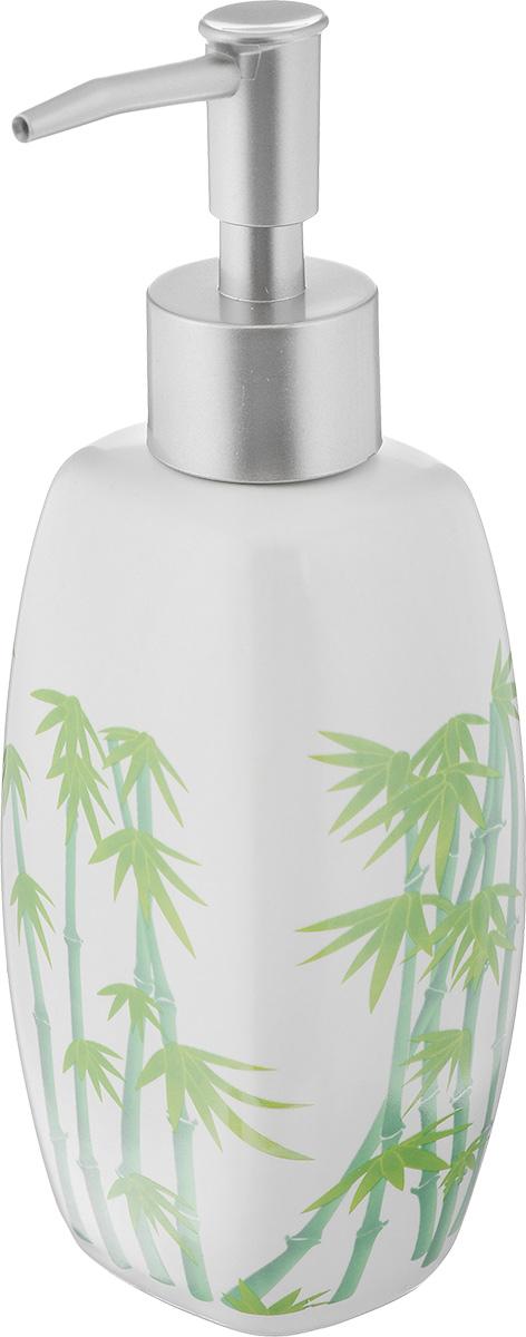 Дозатор для жидкого мыла Vanstore Green Bamboo, 320 мл301-03Дозатор для жидкого мыла Vanstore Green Bamboo, изготовленный из высококачественной керамики и пластика, отлично подойдет для вашей ванной комнаты. Такой аксессуар очень удобен в использовании, достаточно лишь перелить жидкое мыло в дозатор, а когда необходимо использование мыла, легким нажатием выдавить нужное количество. Дозатор для жидкого мыла Vanstore Green Bamboo создаст особую атмосферу уюта и максимального комфорта в ванной.Размер дозатора: 7 х 5,5 см.Высота дозатора: 19 см.