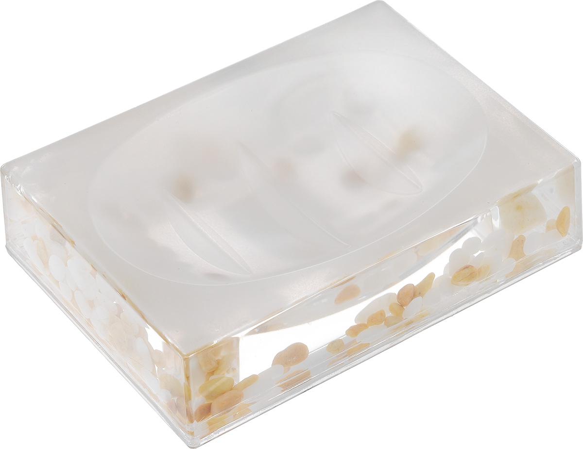 Мыльница Vanstore Stones, 13,5 х 9 х 3,5 см мыльница vanstore plastic white цвет белый 12 х 9 х 2 5 см