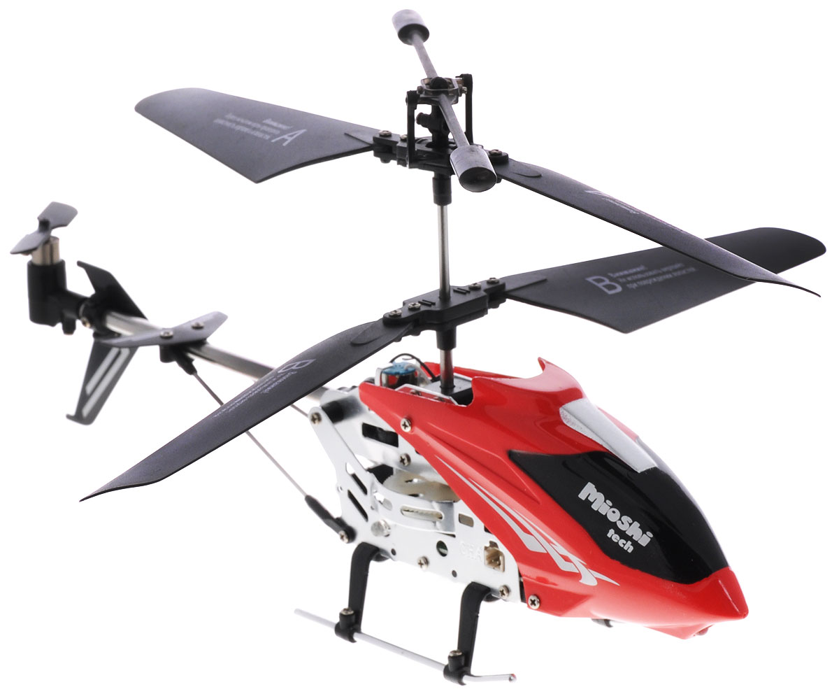 Mioshi Вертолет на инфракрасном управлении IR-107 цвет красный купить вертолет на пульте управления в костроме