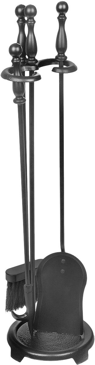 Набор каминный RealFlame, цвет: черный. 4010140101 BKВ каминный набор RealFlame входит кочерга, лопатка, щетка и подставка. Все изделия выполнены из высококачественного металла и имеют оригинальный дизайн. Набор может использоваться для натурального дровяного камина, а также как интерьерный элемент для электрического камина.Длина совка: 68 см.Длина щетки: 64 см.Длина кочерги: 68 см.