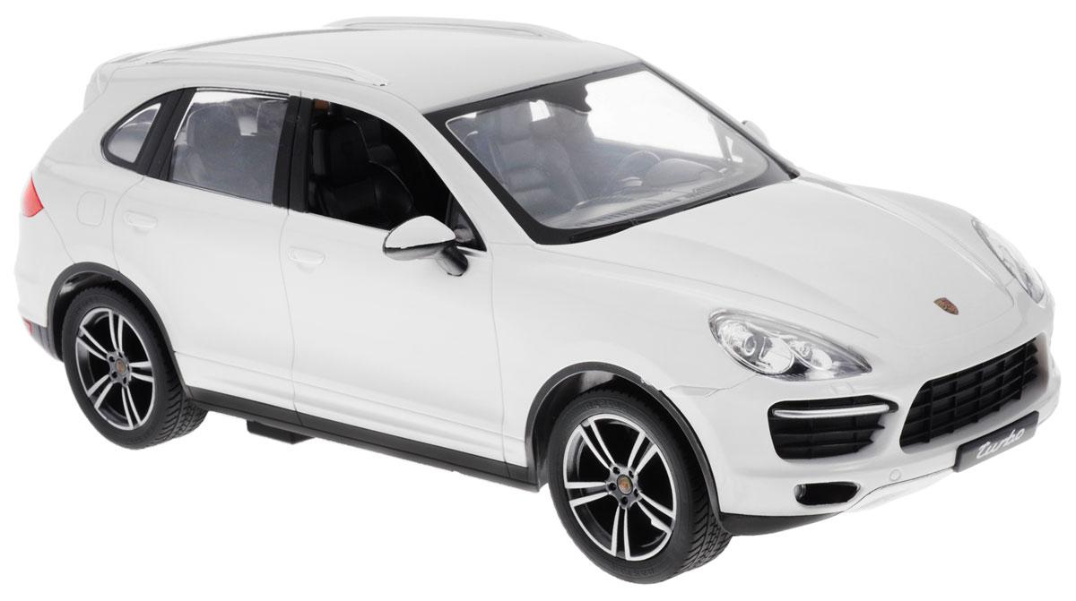 Rastar Радиоуправляемая модель Porsche Cayenne Turbo цвет белый масштаб 1:14 uni fortunetoys модель автомобиля porsche cayenne turbo