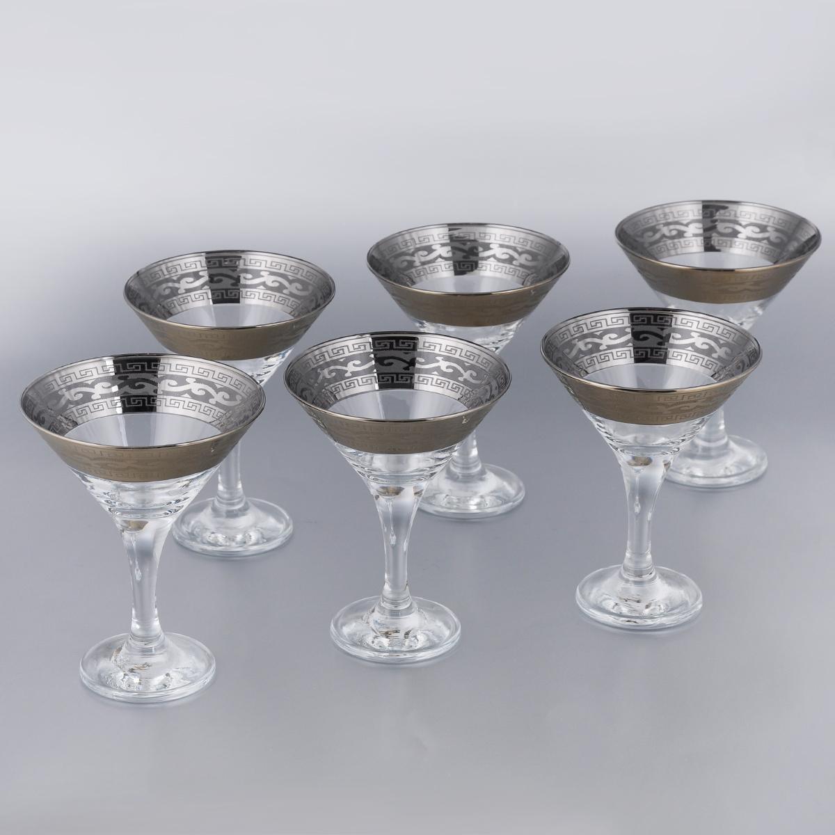 Набор бокалов для мартини Гусь-Хрустальный Версаче, 170 мл, 6 шт набор 6 бокалов юнона с рисунком версаче 210 мл