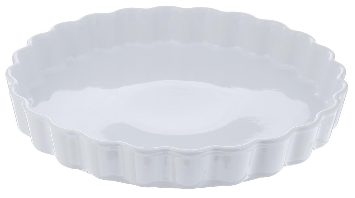 Форма для запекания Tescoma Gusto, круглая, диаметр 29 см622060Круглая форма Tescoma Gusto выполнена из высококачественной керамики и оформлена рельефным краем. Изделие отлично подходит для выпекания, запекания, сервировки и хранения блюд.Подходит для использования в духовых шкафах, холодильниках, морозильных камерах и микроволновых печах. Можно мыть в посудомоечной машине. Выдерживает температуру от -18°С до +240°С. Диаметр формы: 29 см. Высота стенки: 4,5 см.