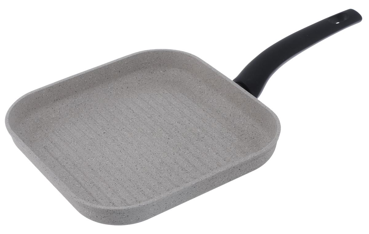 Сковорода-гриль Nadoba Marmia, с антипригарным покрытием, 26 х 26 см728320Сковорода-гриль Nadoba Marmia выполнена из кованого алюминия с прочным 5-слойным антипригарным покрытием QuanTanium на основе титана. Изделие оснащено ненагревающейся бакелитовой ручкой с покрытием Soft-touch. Допустимо использование металлических инструментов. Подходит для использования на всех типах плит, включая индукционных. Можно мыть в посудомоечной машине. Размер сковороды: 26 х 26 см.Высота стенки: 4,3 см. Толщина стенки: 4 мм. Толщина дна: 4 мм.Длина ручки: 20 см.Диаметр индукционного диска: 21 см.