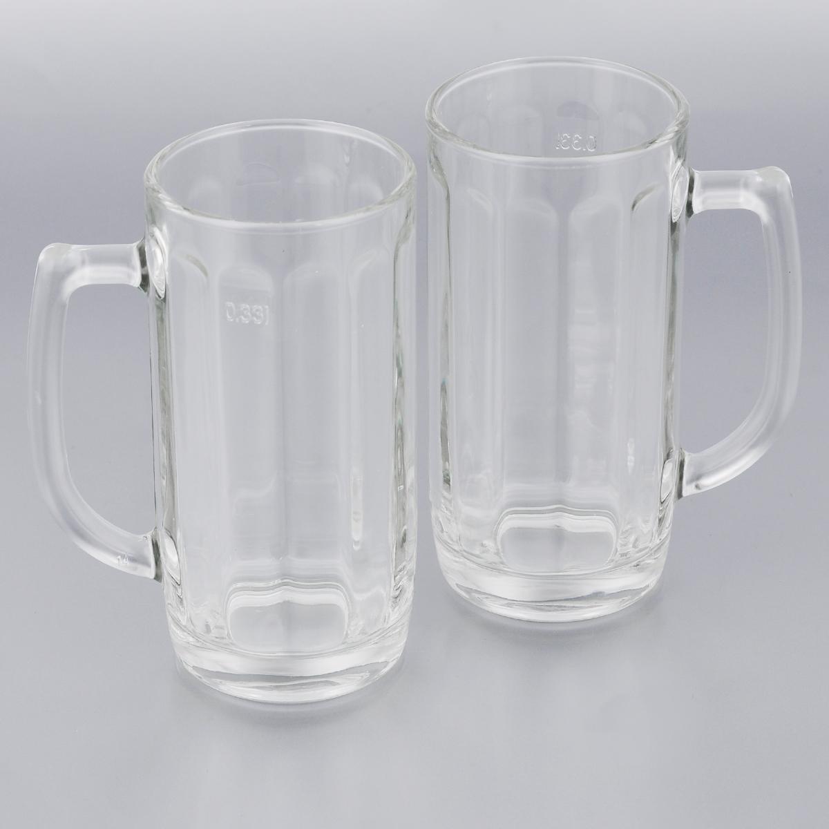 Набор кружек для пива Luminarc Гамбург, 330 мл, 2 штH5126Набор Luminarc Гамбург состоит из двух кружек, выполненных из упрочненного стекла. Кружки предназначены для подачи пива. Они сочетают в себе элегантный дизайн и функциональность. Грани кружек подчеркнут цвет напитка, а толщина стенок поможет сохранить пиво прохладным. Благодаря такому набору кружек пить напитки будет еще приятнее.Набор кружек для пива Luminarc Гамбург идеально подойдет для сервировки стола и станет отличным подарком к любому празднику. Можно мыть в посудомоечной машине.Диаметр кружек: 7 см.Высота кружек: 15 см.