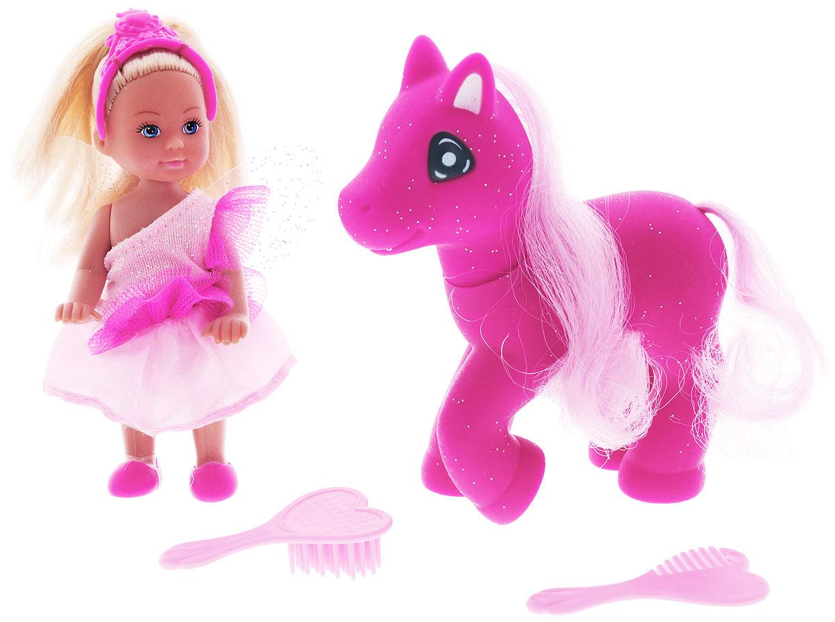 Simba Игровой набор с мини-куклой Еви Little Fairy & Pony