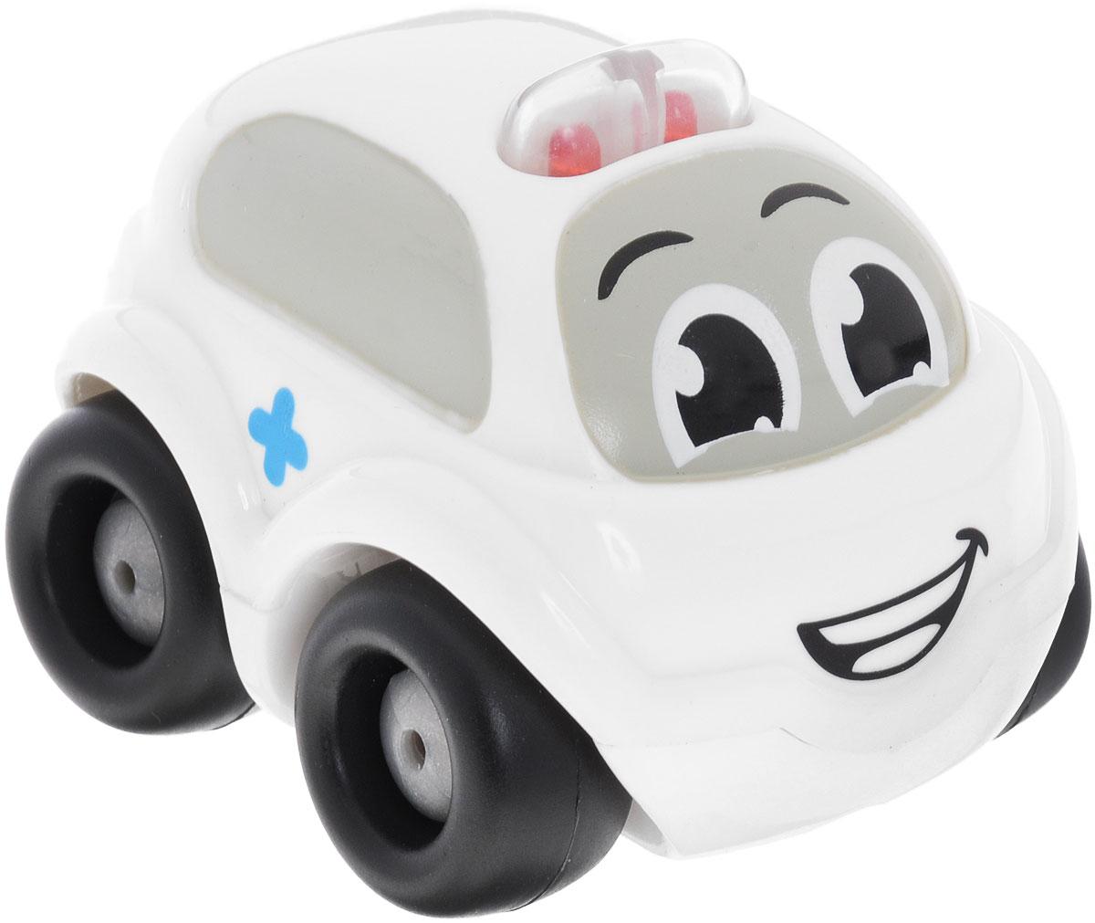 Smoby Электронная мини-машинка цвет белый smoby машинка vroom planet цвет фиолетовый