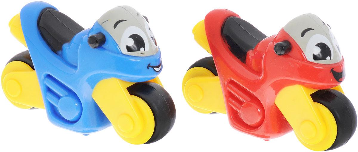 Smoby Набор мотоциклов Vroom Planet 2 шт цвет синий красный smoby набор из 2 х машинок
