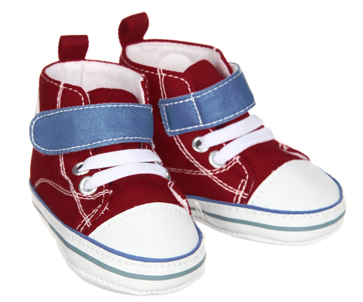 Пинетки для мальчика Luvable Friends Высокие кроссовки, цвет: красный, голубой, белый. 12039. Размер 12/18 месяцев12039Пинетки для мальчика Luvable Friends, стилизованные под высокие кроссовки, станут отличным дополнением к гардеробу малыша. Изделие выполнено из хлопка и полиэстера.Модель дополнена эластичной шнуровкой и удобным хлястиком на застежке-липучке, которые надежно фиксируют пинетки на ножке ребенка. На стопе предусмотрен прорезиненный рельефный рисунок, благодаря которому ребенок не будет скользить. Изделие оформлено нашивкой с фирменным логотипом.Мягкие, не сдавливающие ножку материалы делают модель практичной и популярной. Такие пинетки - отличное решение для малышей и их родителей!