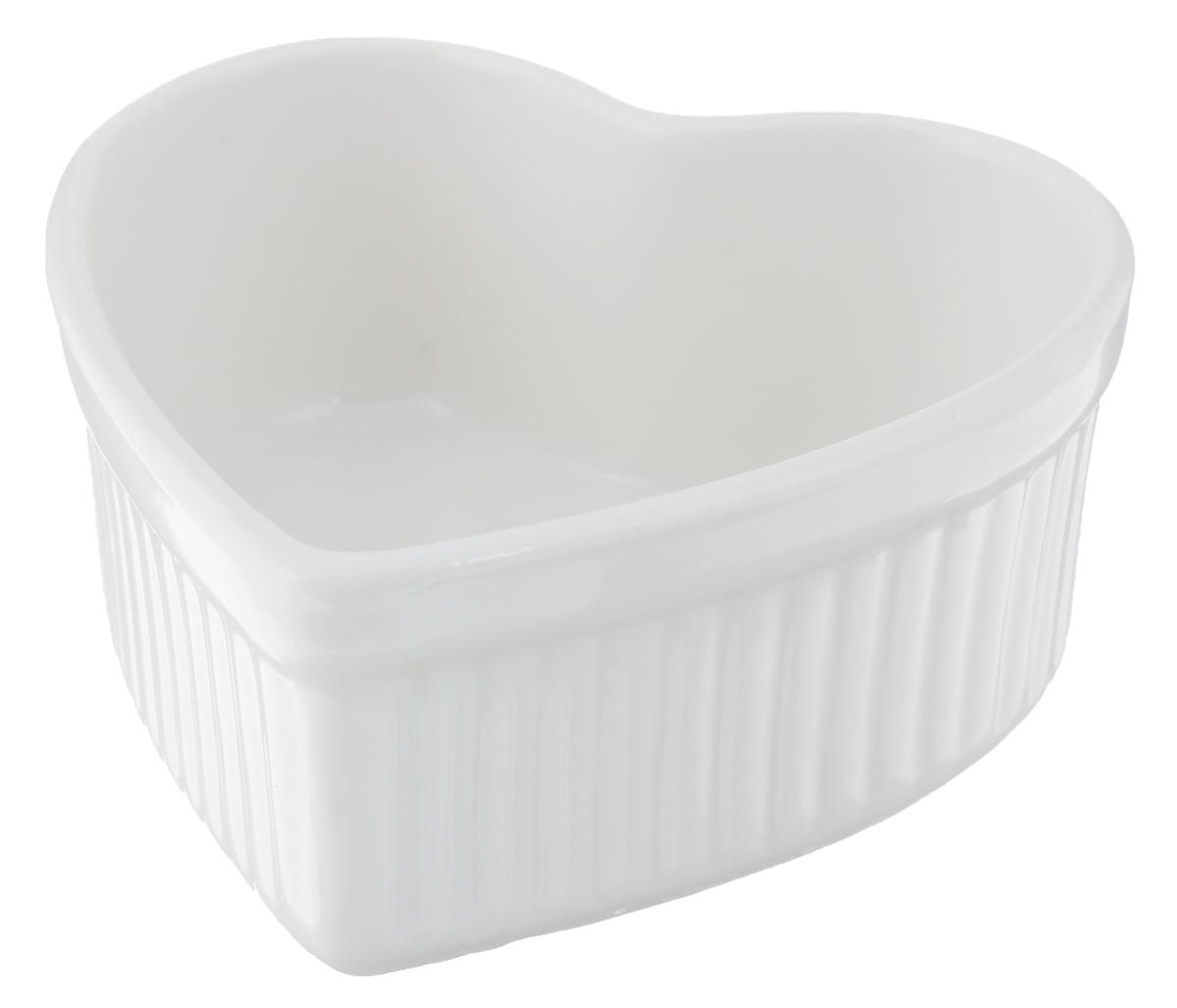Горшок для запекания Walmer Heart, цвет: белый, 9 х 10 см горшок для запекания walmer classic цвет белый диаметр 12 см