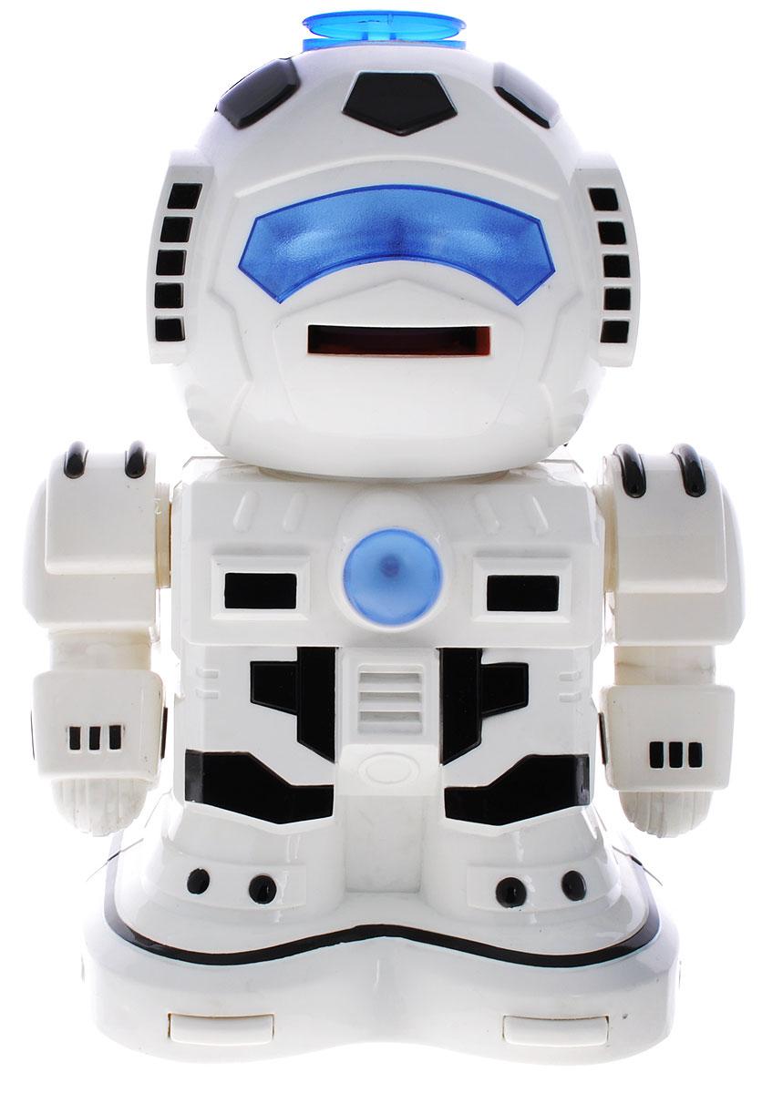 ABtoys Робот на радиоуправлении Вася цвет белый черный