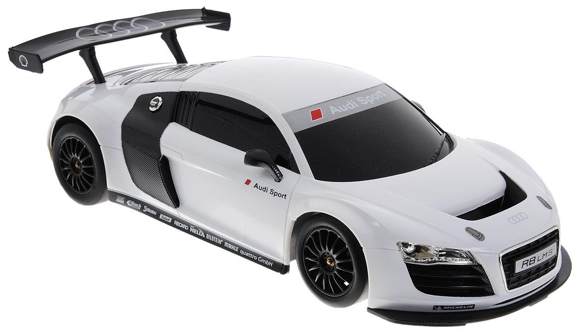 Rastar Радиоуправляемая модель Audi R8 цвет белый масштаб 1:18 rastar радиоуправляемая модель audi r8 lms цвет серебристый черный