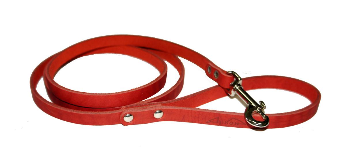 Поводок для собак Аркон Стандарт, цвет: красный, ширина 1,1 см, длина 140 смп11крПоводок для собак Аркон Стандарт изготовлен из высококачественной натуральной кожи. Карабин выполнен из легкого сверхпрочного сплава. Изделие отличается не только исключительной надежностью и удобством, но и привлекательным современным дизайном.Поводок - необходимый аксессуар для собаки. Ведь в опасных ситуациях именно он способен спасти жизнь вашему любимому питомцу. Иногда нужно ограничивать свободу своего четвероногого друга, чтобы защитить его или себя от неприятностей на прогулке. Длина поводка: 140 см.Ширина поводка: 1,1 см.