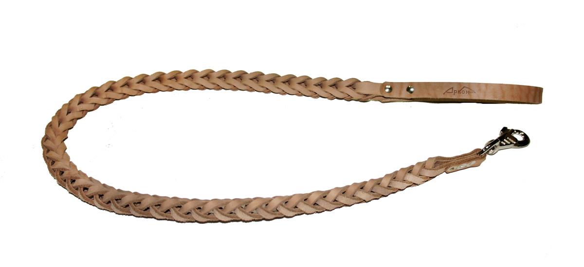Поводок для собак Аркон Плетенка квадратная, цвет: бежевый, ширина 2,3 см, длина 120 смпл12квПоводок для собак Аркон Плетенка квадратная изготовлен из высококачественной натуральной кожи в виде объемного плетения. Карабин выполнен из легкого сверхпрочного сплава. Изделие отличается не только исключительной надежностью и удобством, но и привлекательным современным дизайном.Поводок - необходимый аксессуар для собаки. Ведь в опасных ситуациях именно он способен спасти жизнь вашему любимому питомцу. Иногда нужно ограничивать свободу своего четвероногого друга, чтобы защитить его или себя от неприятностей на прогулке. Длина поводка: 120 см.Ширина поводка: 2,3 см.