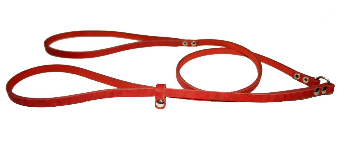 Ринговка для собак Аркон Стандарт, цвет: красный, ширина 0,8 см, длина 110 смр8крРинговка Аркон Стандарт - это специальный поводок, состоящий из петли с фиксатором и, собственно, поводка. Выполнена из натуральной кожи, фурнитура - из высококачественного металла. Ринговка является самым распространенным видом амуниции для показа собаки на выставке или занятий рингдрессурой. Ринговку подбирают в тон окраса собаки, если собака пятнистая - то в тон преобладающего окраса или, наоборот, контрастную.Ширина: 0,8 см.Длина: 110 см.