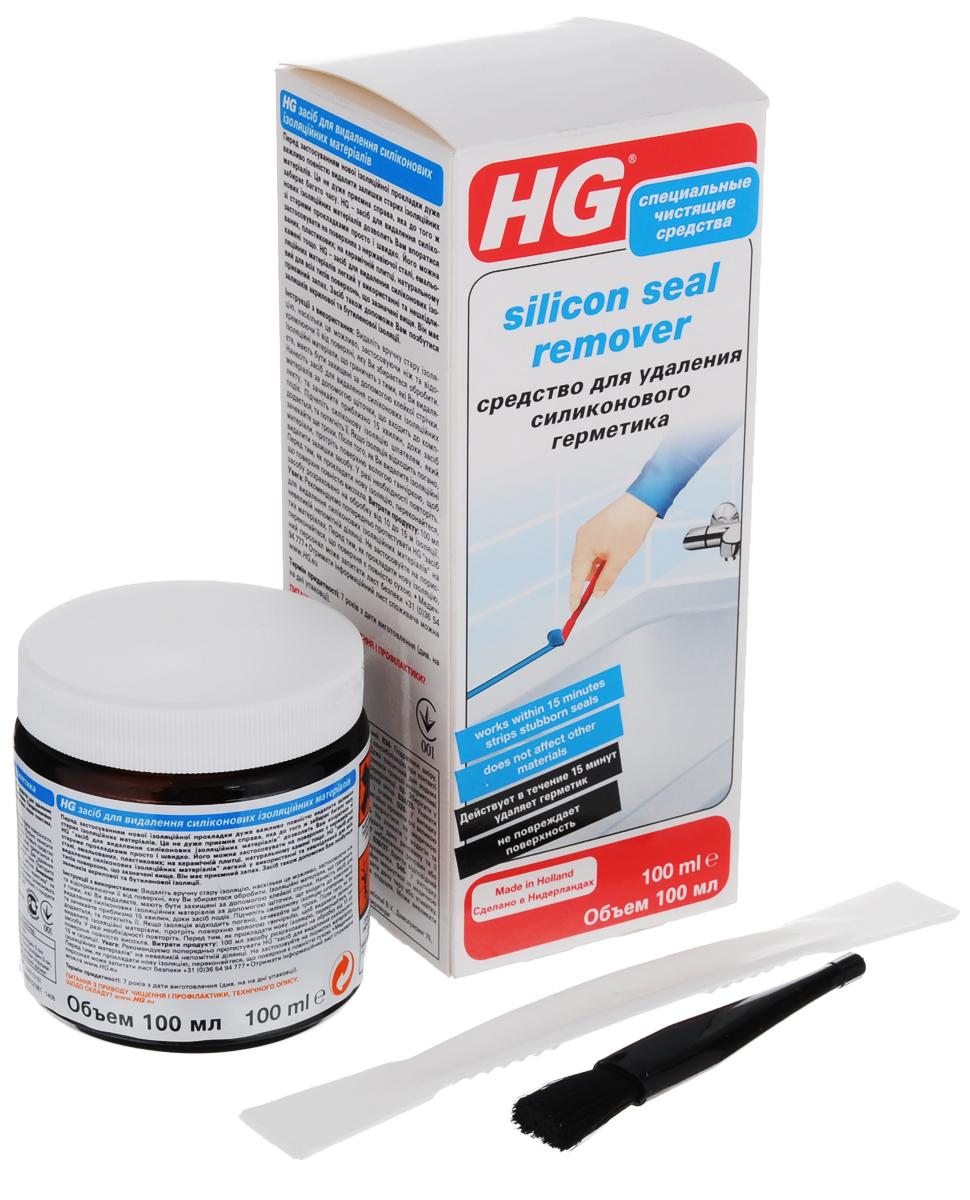 Средство для удаления силиконового герметика HG, 100 мл моющее средство hg для мрамора и натурального камня 1000 мл