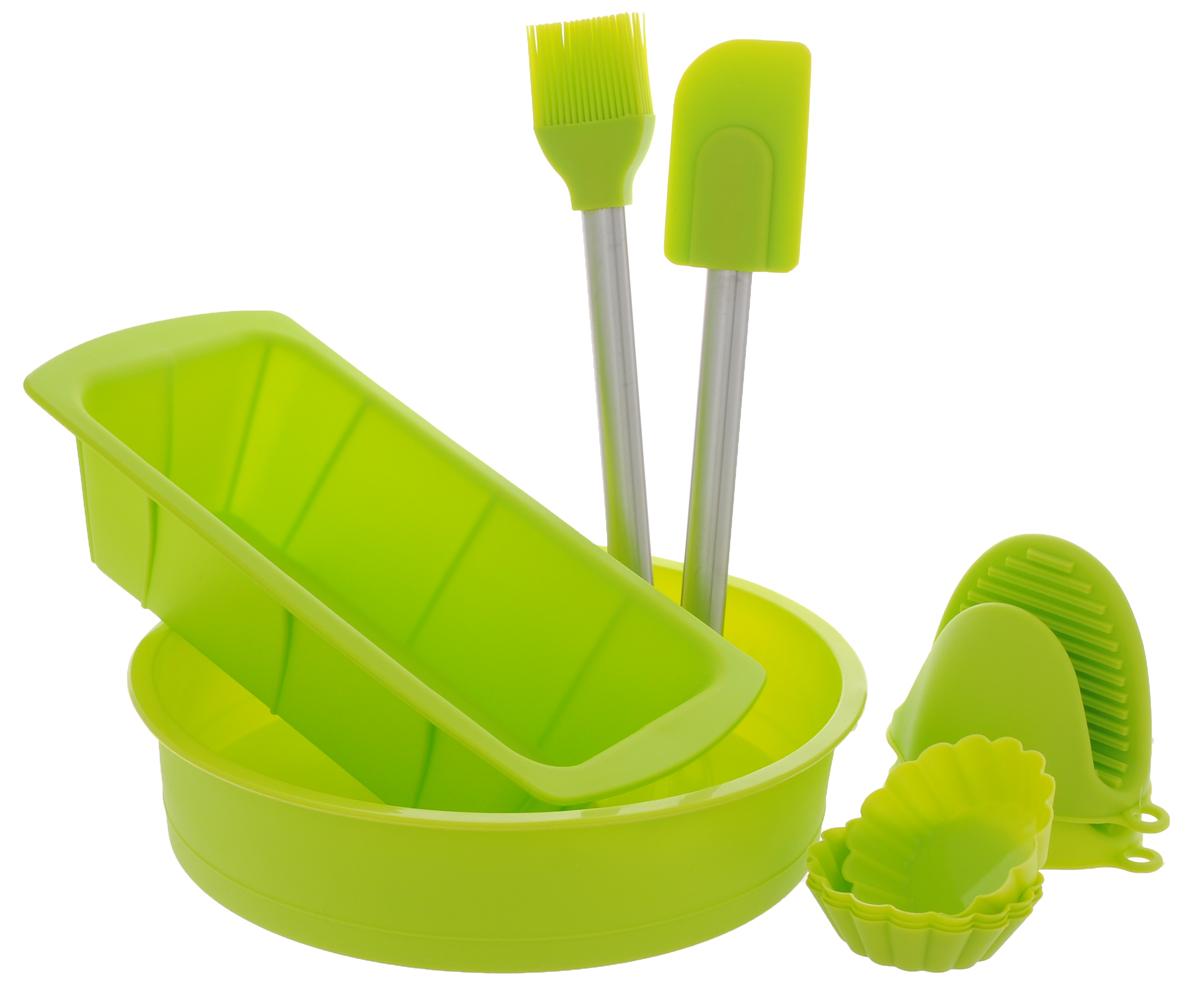 Набор для выпечки Calve, цвет: салатовый, 10 предметов набор для выпечки calve цвет красный 5 предметов