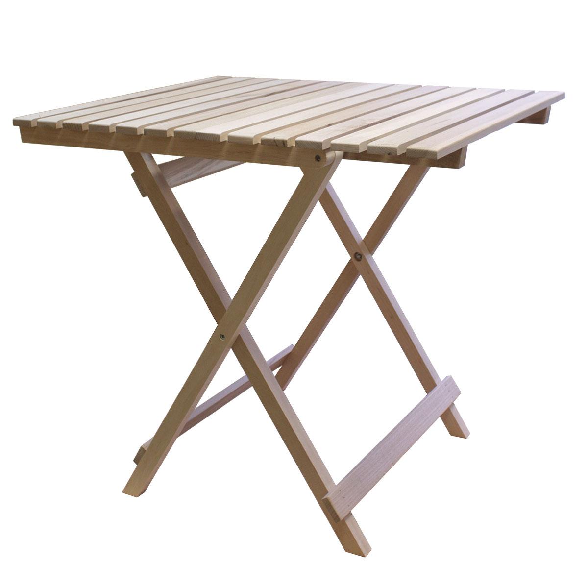 Стол складной Счастливый дачникСTOСДСкладной стол Счастливый дачник - это незаменимый предмет на даче для приятного времяпрепровождения. Стол выполнен из дерева (ольха), легко складывается и компактен при хранении.Такой стол прекрасно подойдет для комфортного отдыха на даче.В разобранном виде: 80 х 60,5 х 5,5 см.В собранном виде: 76 х 60,5 х 78 см.Размер столешницы: 76 х 60,5 см.
