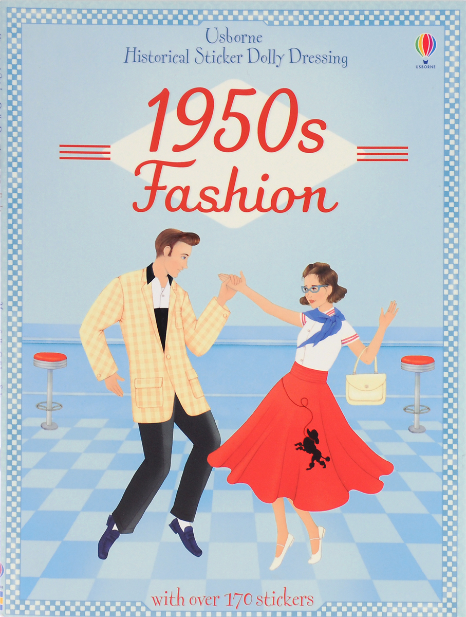 Historical Sticker Dolly Dressing: 1950s Fashion sticker dolly dressing around the world