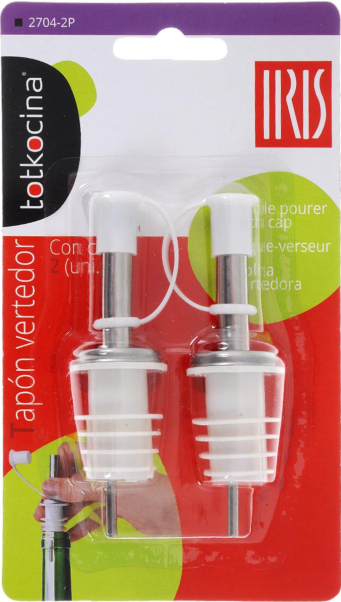 Дозатор для бутылок Iris, с крышкой, цвет: белый, 2 шт2704-2PДозатор для бутылок Iris, выполненный из ABS пластика и нержавеющей стали, подойдет для всех бутылок стандартного размера. Вы сможете легко добавить уксуса, соуса или вина в ваше блюдо. Дозатор снабжен крышечкой. В комплекте - 2 дозатора.Размер: 2,6 х 2,6 х 9,2 см.Уважаемые клиенты!Обращаем ваше внимание на возможные изменения в дизайне упаковки. Качественные характеристики товара остаются неизменными. Поставка осуществляется в зависимости от наличия на складе.