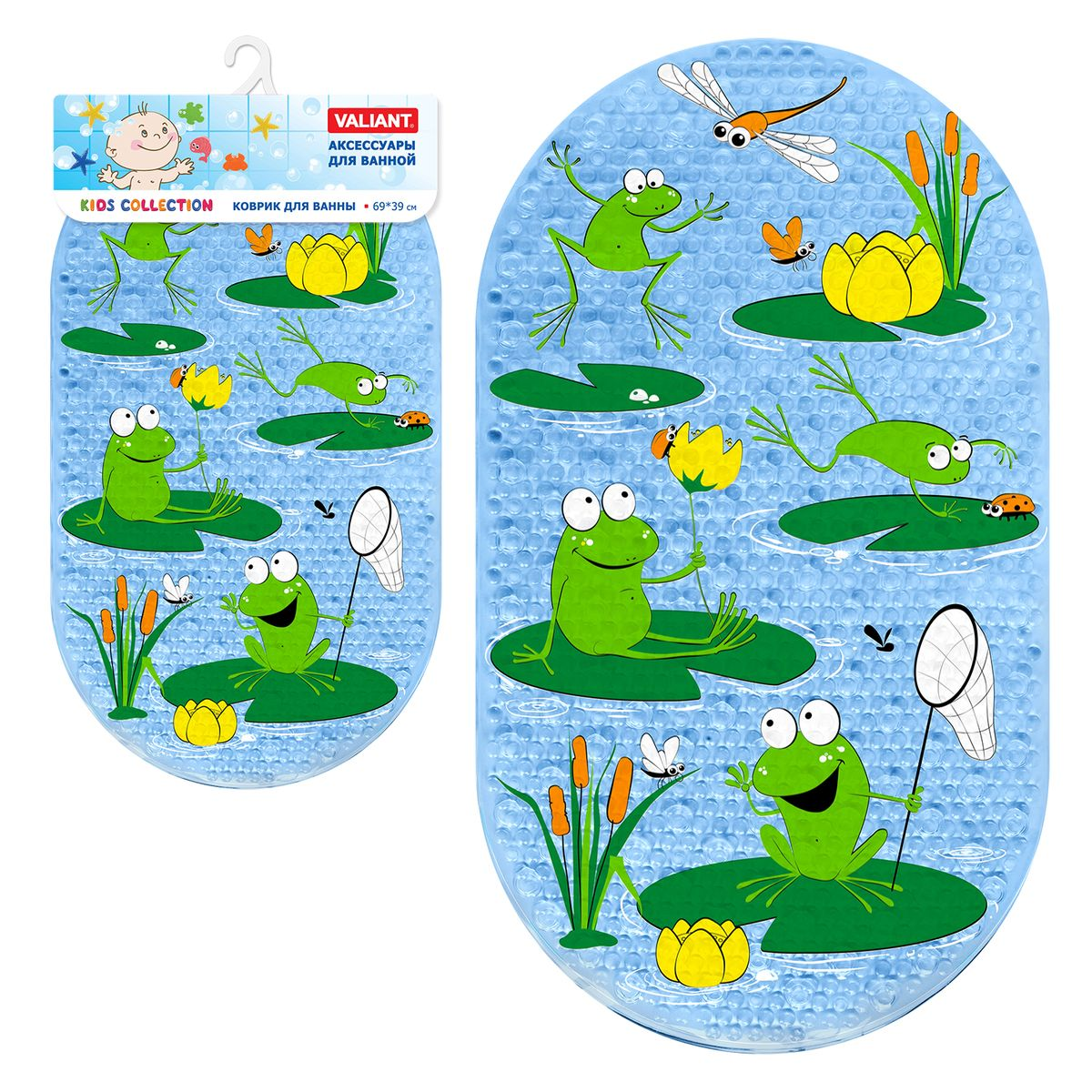 Valiant Коврик для ванной детский ЛягушатаK6939-FG