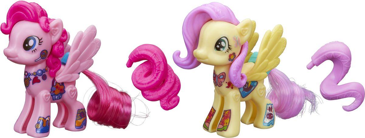 My Little Pony Набор фигурок Создай свою пони Флаттершай и Пинки Пай игровые наборы pony royal набор пони рояль карусель и королевская лошадь рубин