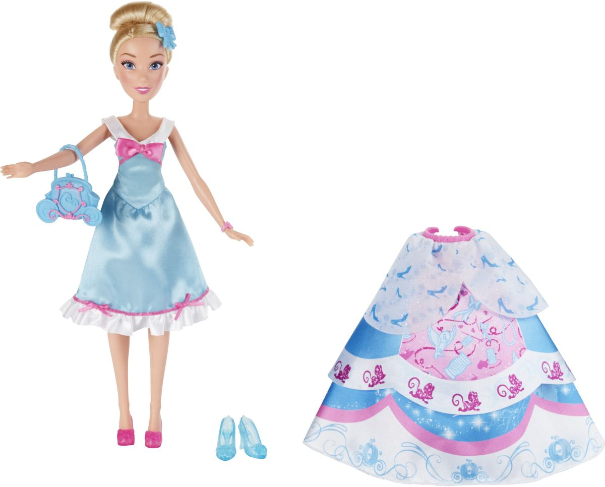 Disney Princess Кукла Золушка в платье со сменными юбками куклы disney princess модная кукла принцесса в платье со сменными юбками