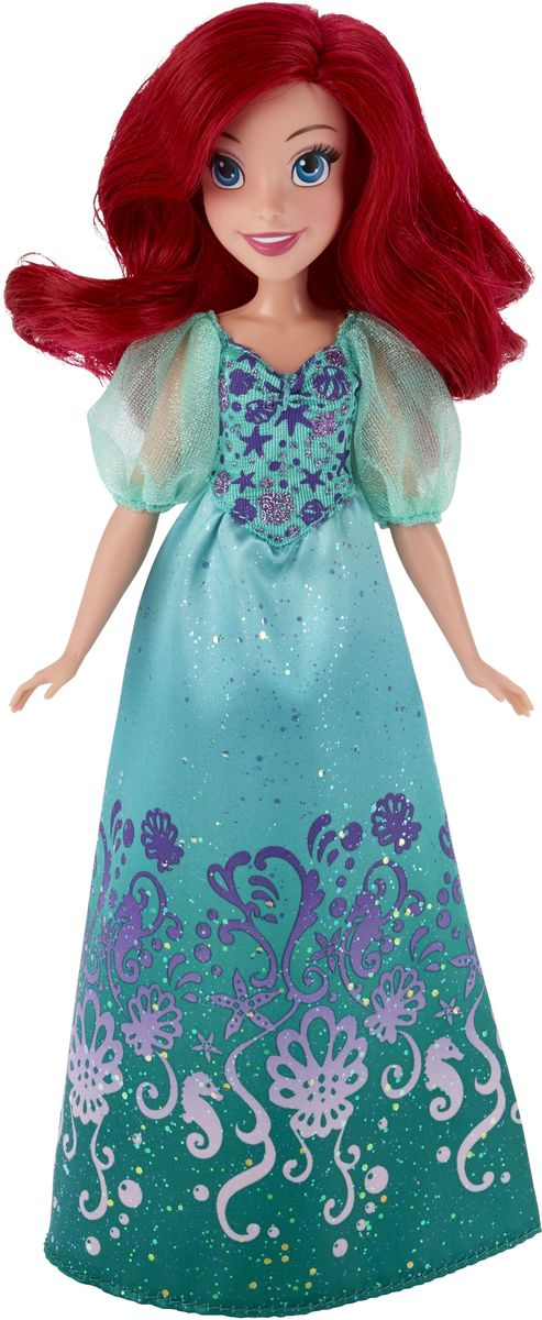 Disney Princess Кукла Ариэль цвет платья бирюзовый disney princess train case