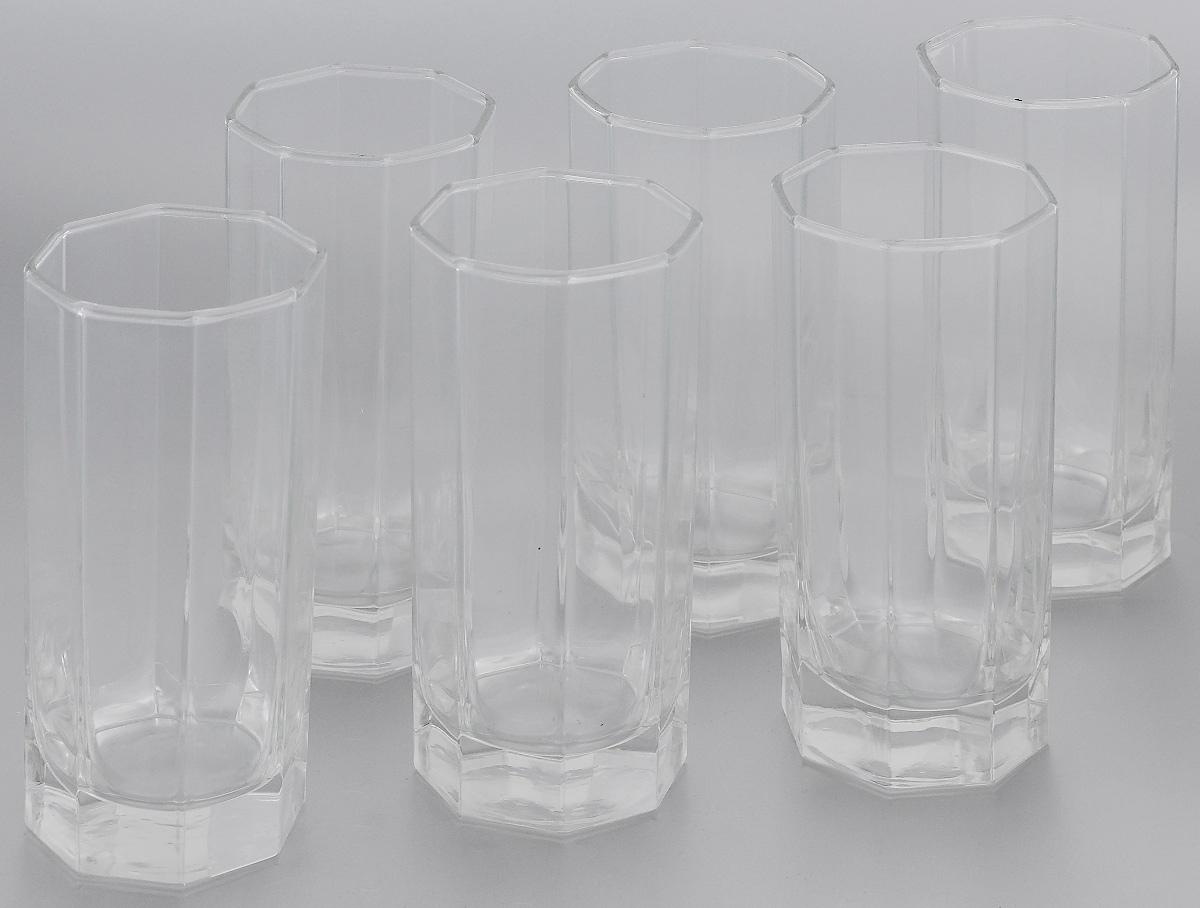 Набор стаканов Luminarc Octime, 330 мл, 6 штH9811Набор Luminarc Octime состоит из шести граненых стаканов. Изделия выполнены из натрий-кальций-силикатного стекла. Они предназначены для подачи сока, воды, компота и другихнапитков. Стаканы станут идеальным украшением праздничного стола и отличным подарком к любомупразднику. Можно мыть в посудомоечной машине.Размер стакана (по верхнему краю): 6,5 х 6,5 см. Высота стакана: 14,5 см.